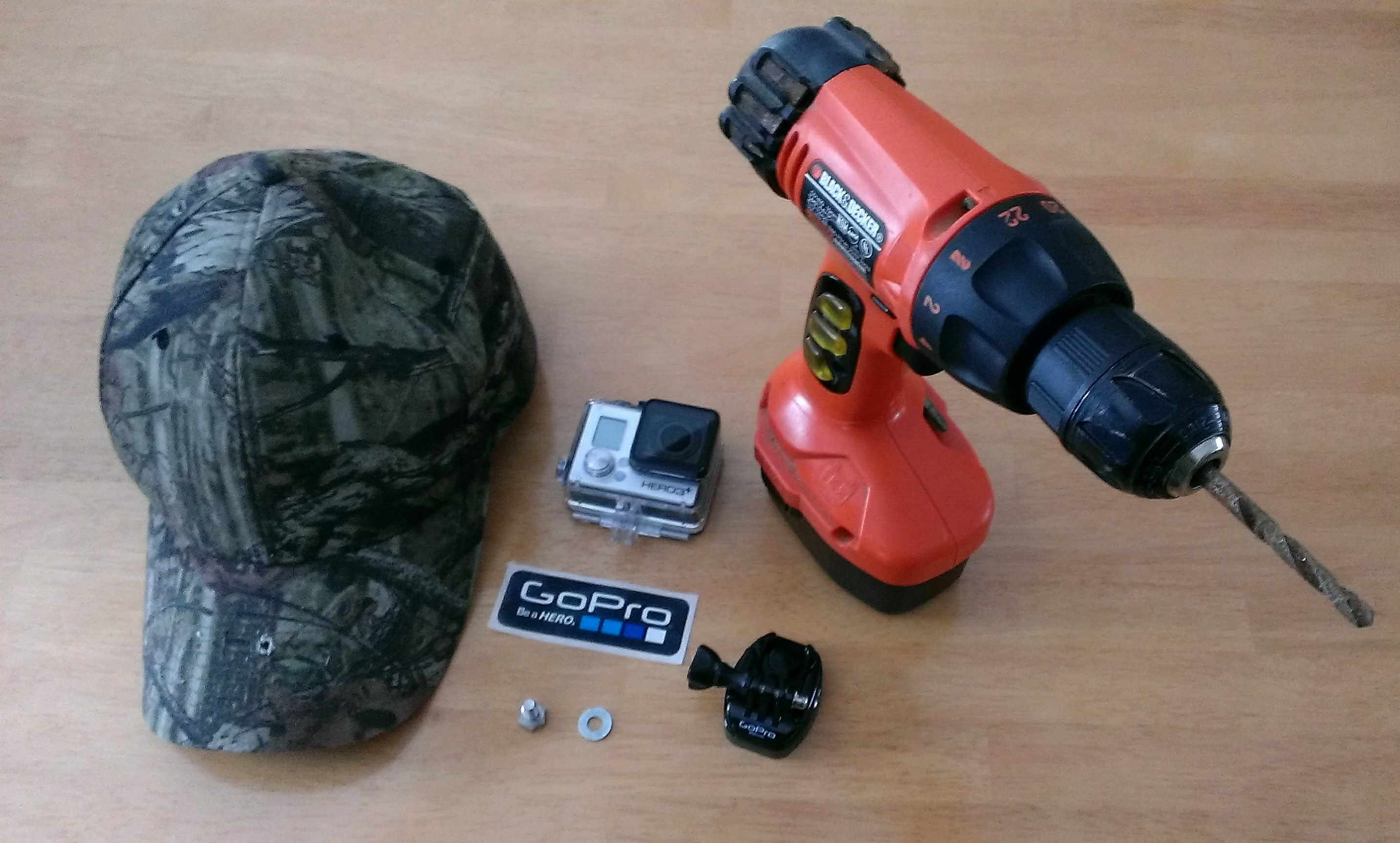 a quot do it yourself quot baseball cap mount for gopro cameras