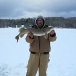 Wicked Fishah Bloggah Mark McKay with a beautiful Pike taken while ice fishing!